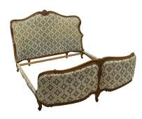 FRENCH LOUIS XV STYLE UPHOLSTERED BED