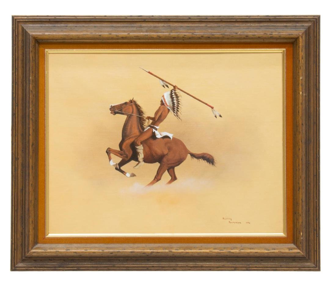 KELLEY PATTERSON (20THC.) INDIAN RIDER PAINTING - 2