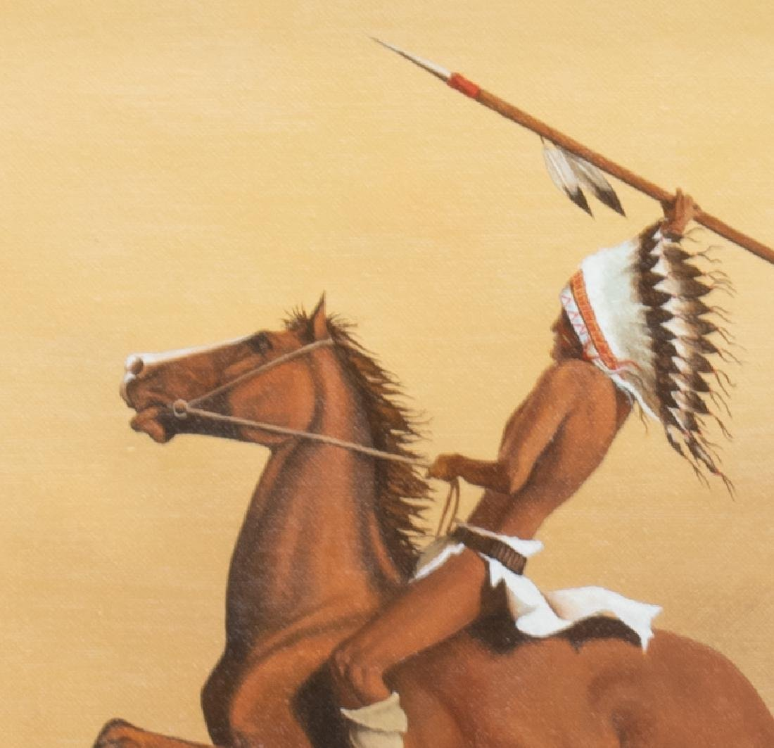 KELLEY PATTERSON (20THC.) INDIAN RIDER PAINTING - 3