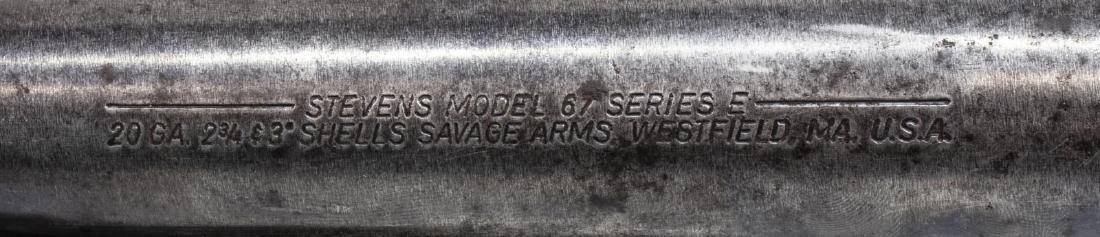 STEVENS MODEL 67 PUMP 20 GAUGE SHOTGUN - 5