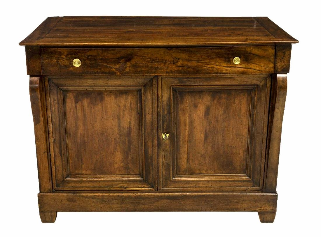 FRENCH EMPIRE STYLE WALNUT SIDEBOARD