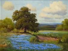 """PALMER CHRISMAN (1913-1984) BLUEBONNETS, 26"""" x 34"""""""