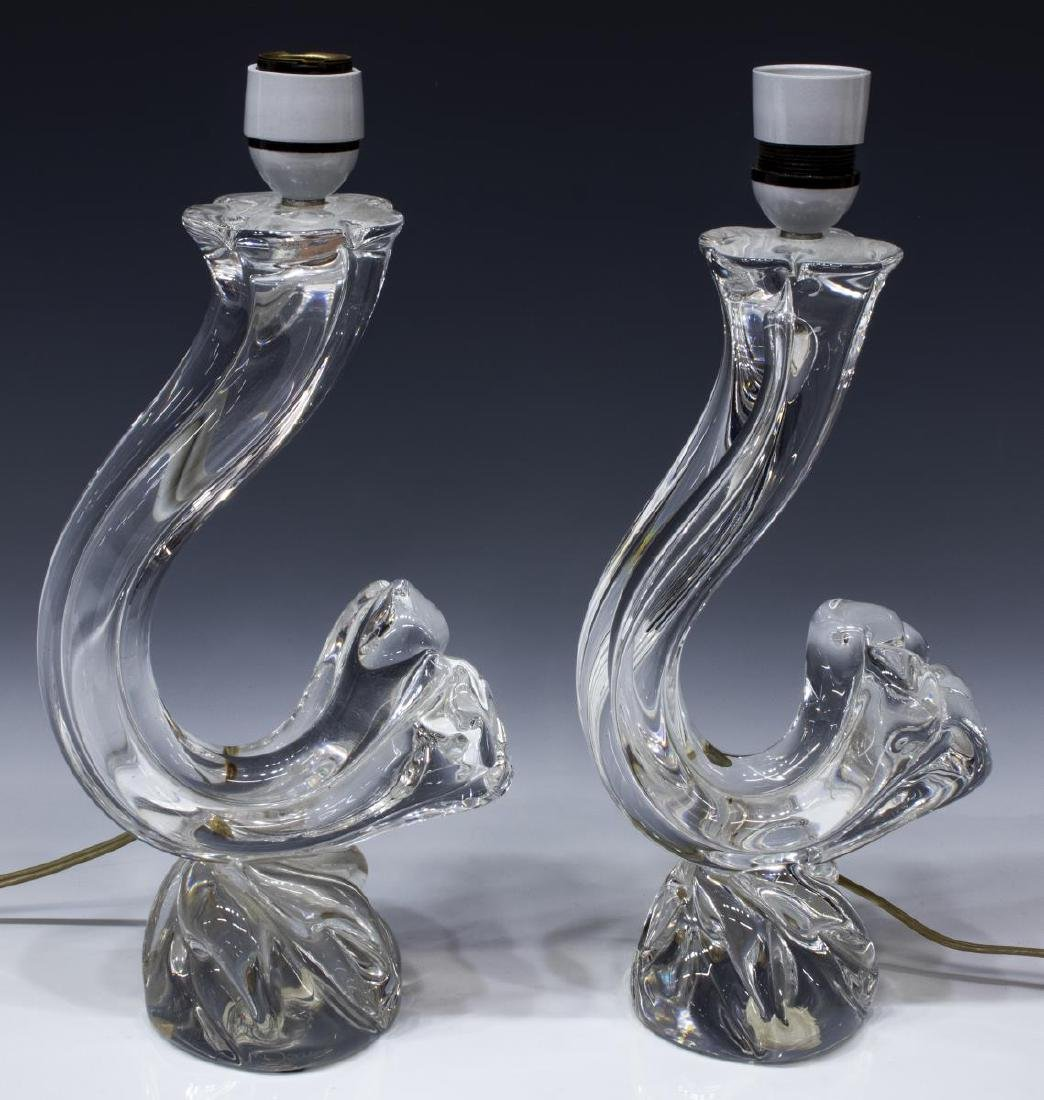 (PR) DAUM ART CRYSTAL COLORLESS TABLE LAMPS