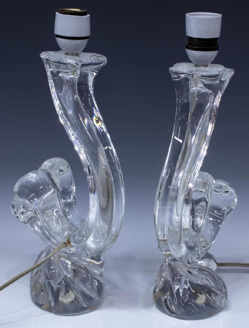 (PR) DAUM ART CRYSTAL COLORLESS TABLE LAMPS - 2