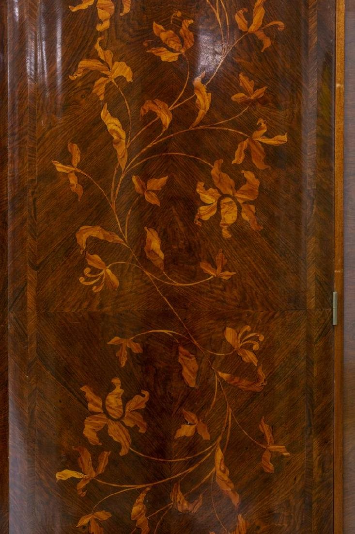 FRENCH ROSEWOOD FLORAL MARQUETRY ARMOIRE - 4