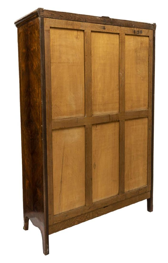 FRENCH ROSEWOOD FLORAL MARQUETRY ARMOIRE - 5