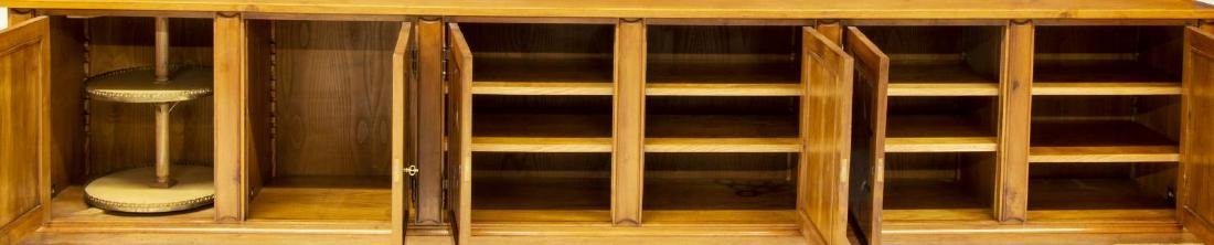 "MONUMENTAL TUSCAN STEPBACK BOOKCASE, 93""H, 161""W - 4"