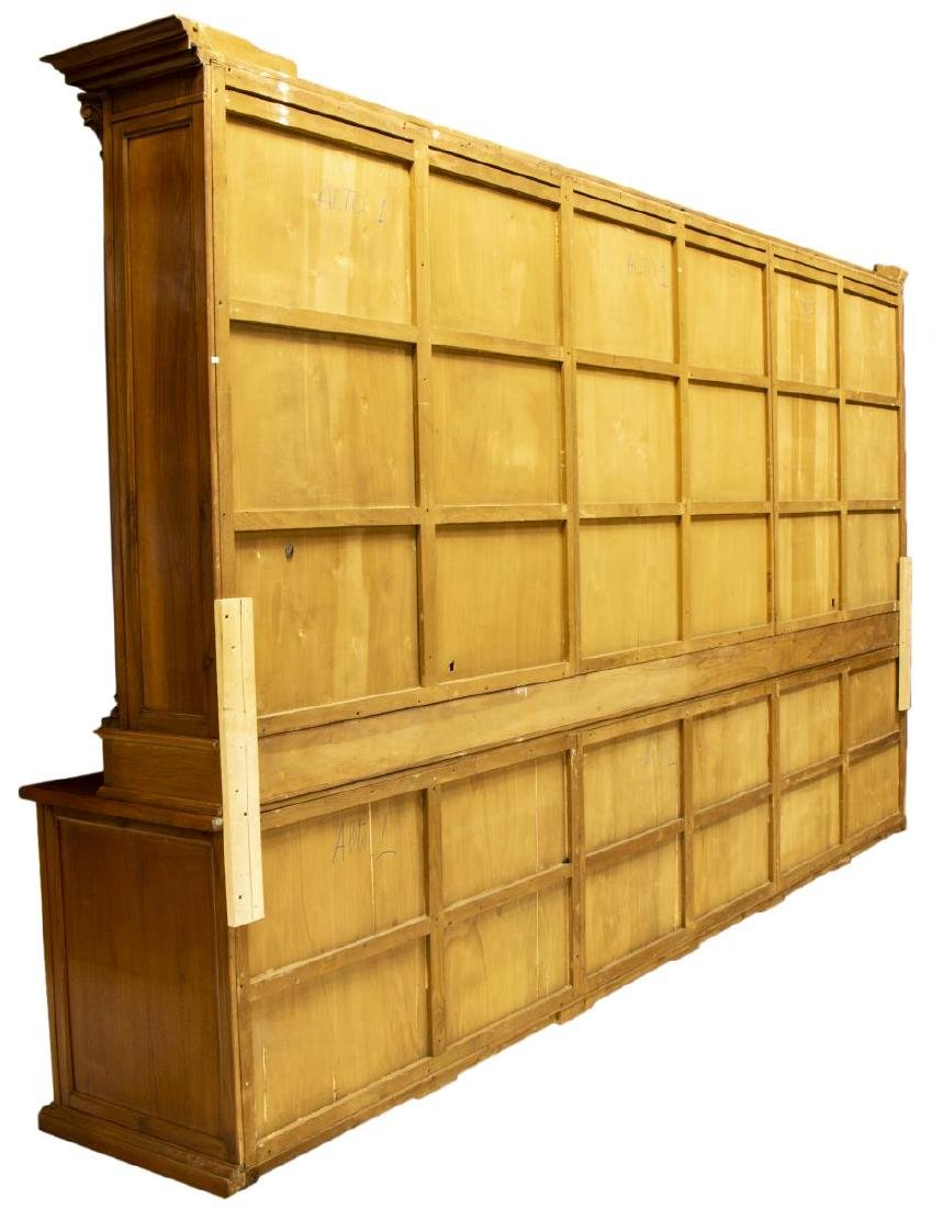 "MONUMENTAL TUSCAN STEPBACK BOOKCASE, 93""H, 161""W - 6"