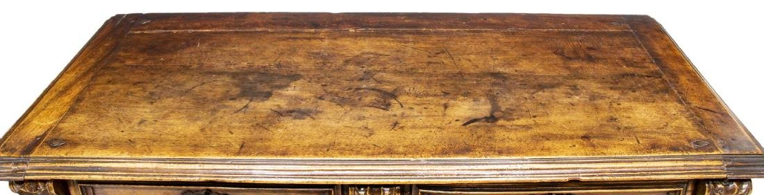 ANTIQUE SPANISH CARVED WALNUT SIDEBOARD - 3