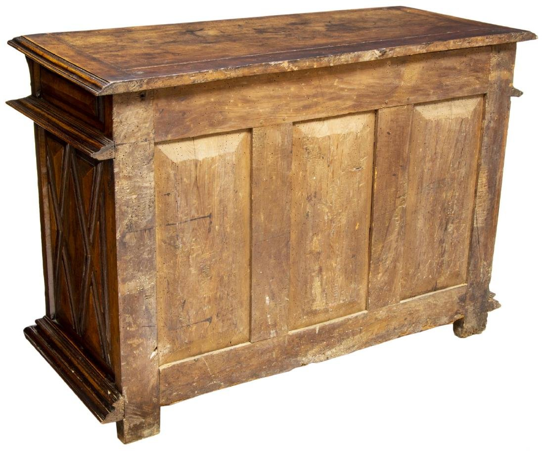 ANTIQUE SPANISH CARVED WALNUT SIDEBOARD - 5
