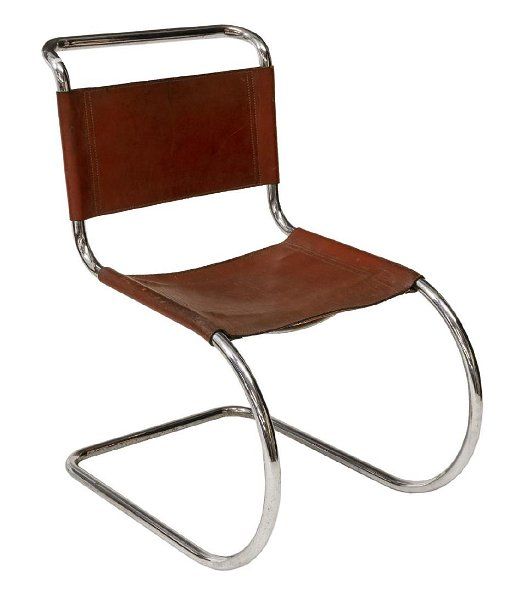 Modernist Cantilever Chair After Mies Van Der Rohe