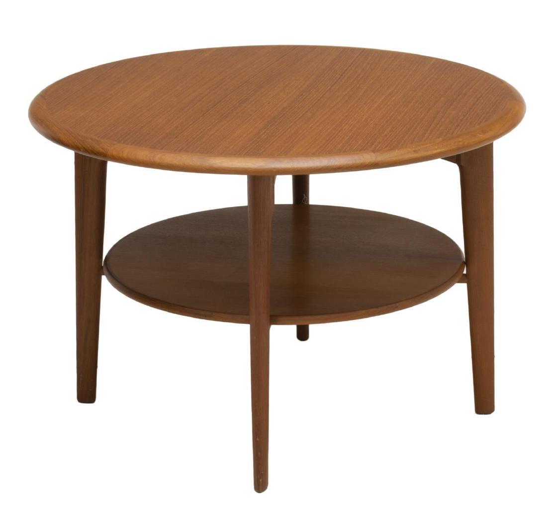 DANISH MID-CENTURY MODERN CIRCULAR COFFEE TABLE