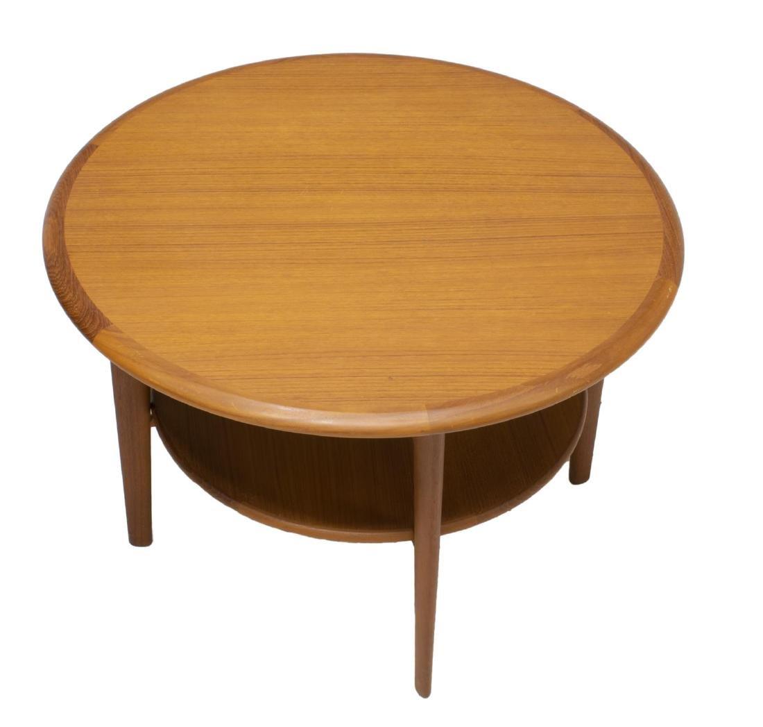 DANISH MID-CENTURY MODERN CIRCULAR COFFEE TABLE - 2
