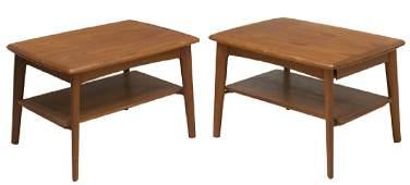 (2) DANISH MID-CENTURY MODERN TEAKWOOD END TABLES