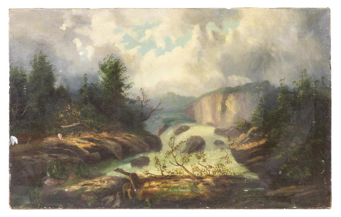 (2) UNFRAMED OIL ON CANVAS LANDSCAPE PAINTINGS - 2