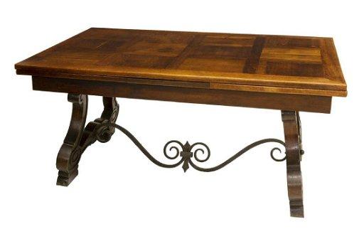 Spanish Style Oak Draw Leaf Dining Table 109 75 W
