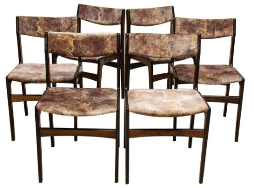 6 Danish Mid Century Rosewood Dining Chairs