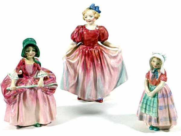 "1: THREE ROYAL DOULTON PORCELAIN FIGURES, ""SWEETING"""