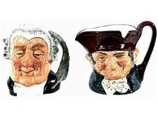4: TWO LARGE ROYAL DOULTON CHARACTER TOBY MUGS