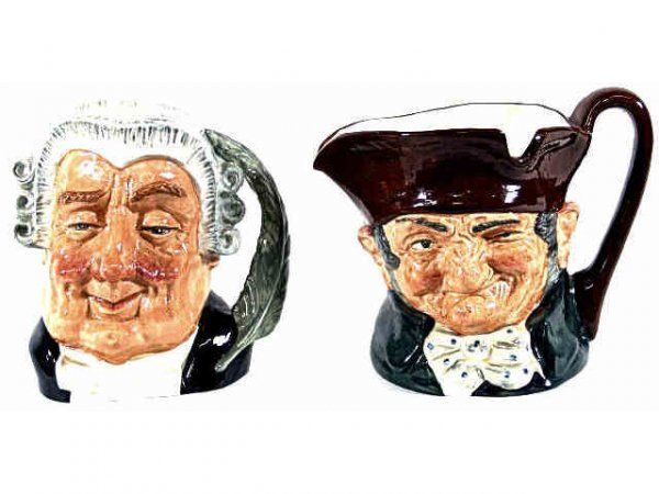 4: TWO LARGE ROYAL DOULTON CHARACTER TOBY MUGS