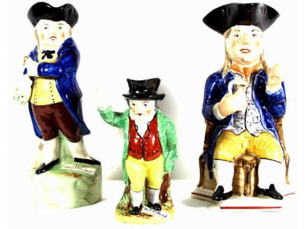 "20: GROUP OF THREE TOBY JUGS, STAFFORDSHIRE ""PICKWICK"""