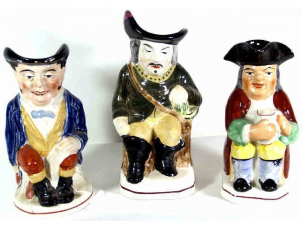 22: GROUP OF THREE VICTORIAN TOBY JUGS