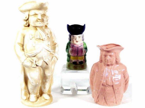 24: THREE TOBY JUGS, MINTONS BARRISTER, LENOX WILLIAM