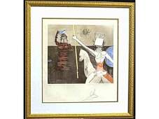 334 DALI ETCHING DON QUIXOTE SERIES OFF TO BATTLE