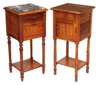 (2) FRENCH PINE BEDSIDE CABINETS NIGHTSTANDS