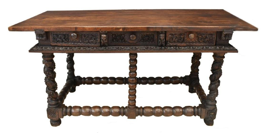 SPANISH BAROQUE WALNUT CENTER TABLE, 18TH C. - 2