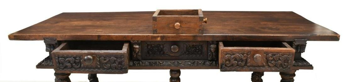 SPANISH BAROQUE WALNUT CENTER TABLE, 18TH C. - 3