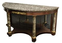 EMPIRE STYLE MARBLETOP BRONZE MOUNTED CONSOLE