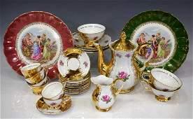 (26) BAVARIAN GILT TEA SERVICE & CABINET PLATES