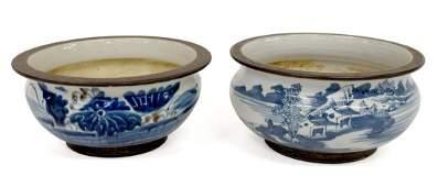 (PR) CHINESE BLUE & WHITE PORCELAIN BOWLS