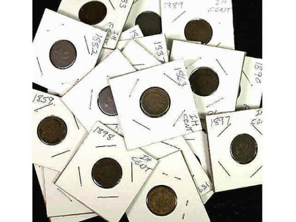 3: LOT OF INDIAN HEAD PENNIES MIXED DATE 1859-1898