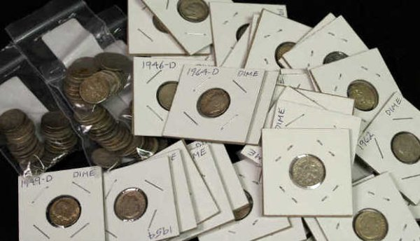4: LOT OF ROOSEVELT SILVER DIMES MIXED DATES