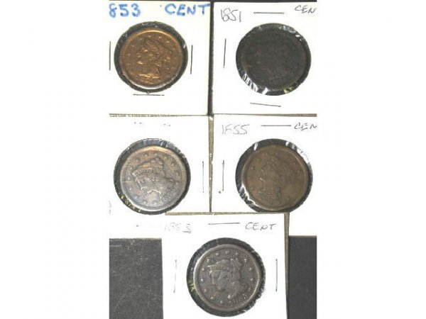 10: LOT OF 12 ONE TWO THREE CENT PIECES COINS