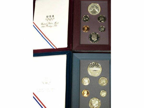 17: 5 UNITED STATES MINT PRESTIGE SETS 1983 - 1997