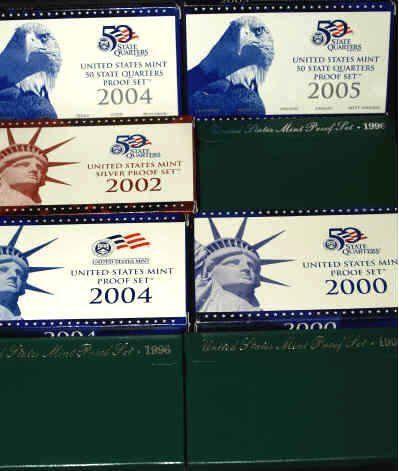 20: LOT OF EIGHT UNITED STATES PROOF SETS 1996-2005