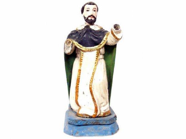 503: ANTIQUE RELIGIOUS COLONIAL GILT FIGURE SAINT JOHN