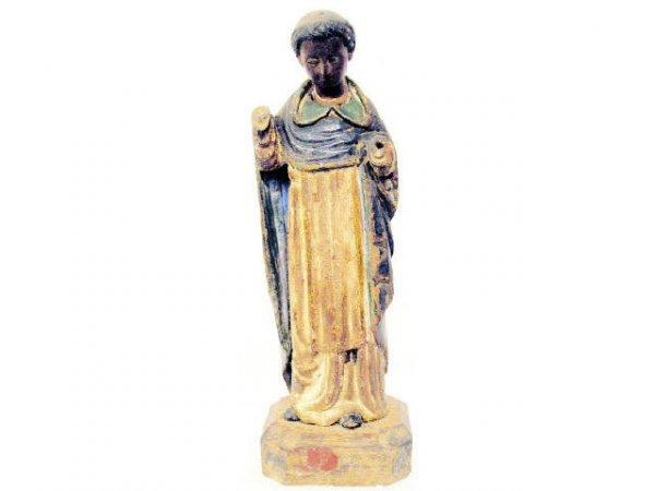 504: ANTIQUE RELIGIOUS COLONIAL STATUE SAINT IGNATIUS