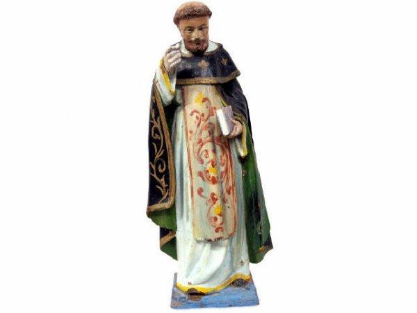 513: ANTIQUE RELIGIOUS COLONIAL FIGURE SAINT IGNATIUS