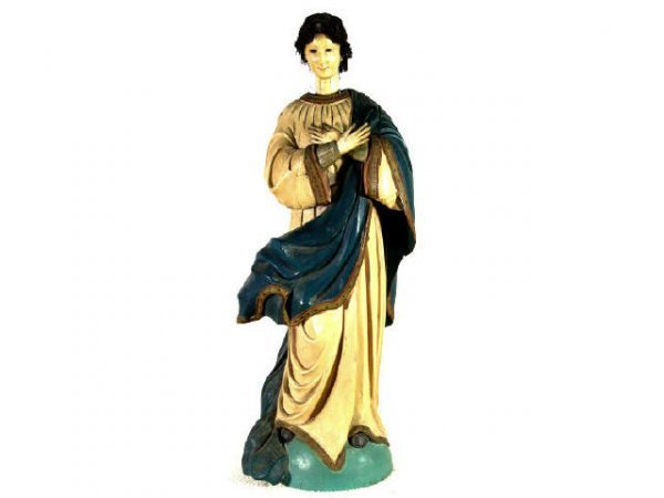 514: ANTIQUE RELIGIOUS STATUE IMMACULATE CONCEPTION