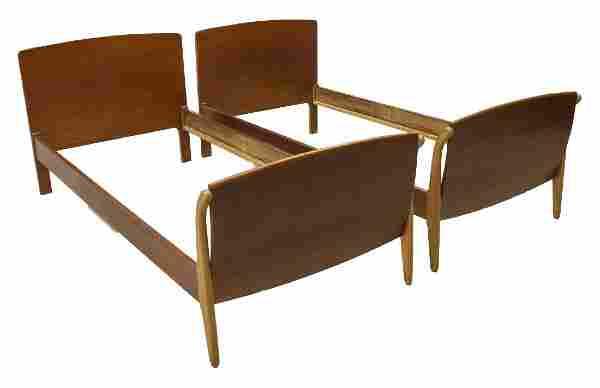 (2) DANISH MID-CENTURY MODERN TEAK BEDS