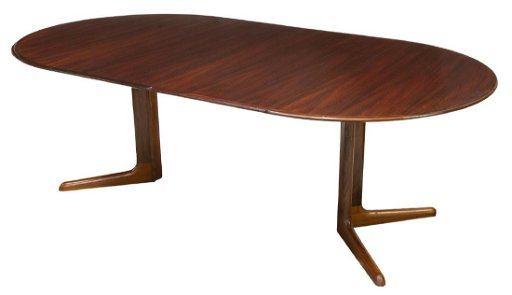 Danish Mid Century Rosewood Extension Dining Table
