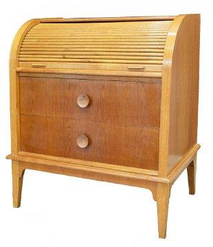 Danish Mid Century Modern Oak Bureau Desk
