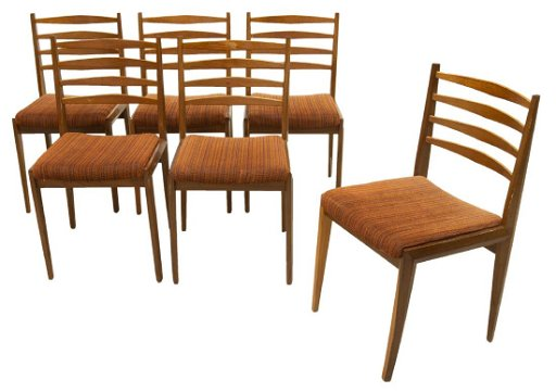 Groovy 6 Danish Mid Century Modern Teak Dining Chairs Bralicious Painted Fabric Chair Ideas Braliciousco