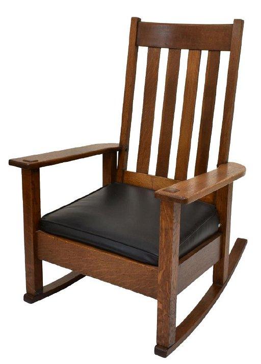 Stickley Bros Craftsman Oak Rocking Chair Jun 22 2019 Austin Auction Gallery In Tx