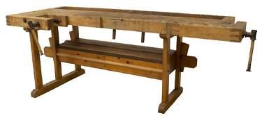 SCANDINAVIAN PINE CRAFTSMAN'S WORK BENCH TABLE