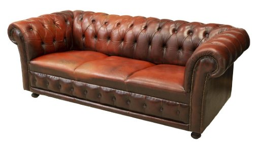 Chesterfield Oxblood Leather Three Seat Sofa